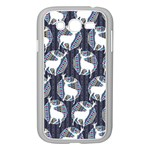 Geometric Deer Retro Pattern Samsung Galaxy Grand DUOS I9082 Case (White) Front