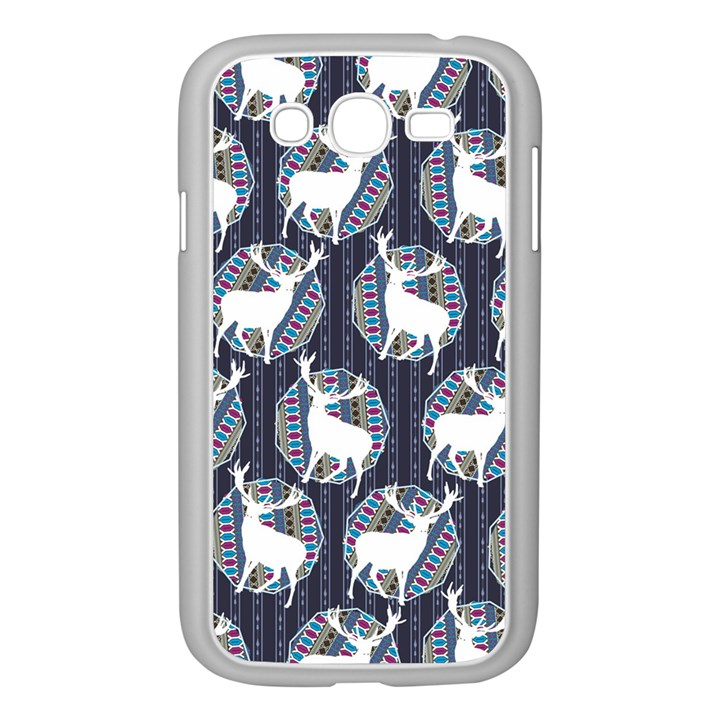Geometric Deer Retro Pattern Samsung Galaxy Grand DUOS I9082 Case (White)