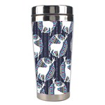Geometric Deer Retro Pattern Stainless Steel Travel Tumblers Left