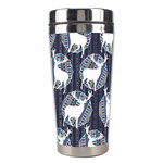 Geometric Deer Retro Pattern Stainless Steel Travel Tumblers Right