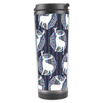 Geometric Deer Retro Pattern Travel Tumbler Center