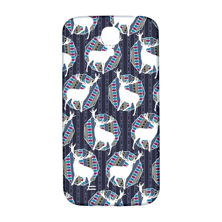 Geometric Deer Retro Pattern Samsung Galaxy S4 I9500/I9505  Hardshell Back Case