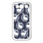 Geometric Deer Retro Pattern Samsung Galaxy S3 Back Case (White) Front