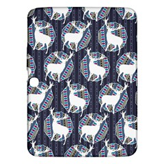 Geometric Deer Retro Pattern Samsung Galaxy Tab 3 (10 1 ) P5200 Hardshell Case