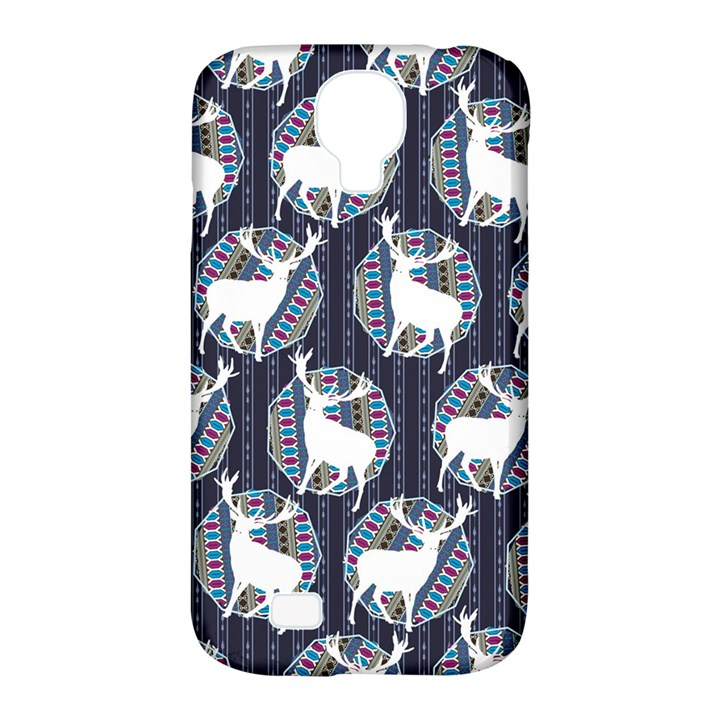 Geometric Deer Retro Pattern Samsung Galaxy S4 Classic Hardshell Case (PC+Silicone)