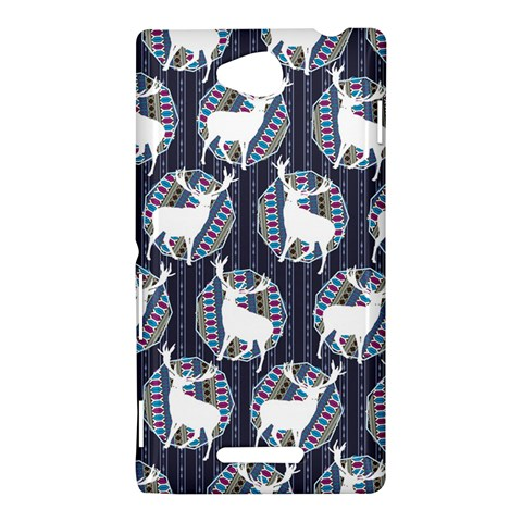 Geometric Deer Retro Pattern Sony Xperia C (S39H)