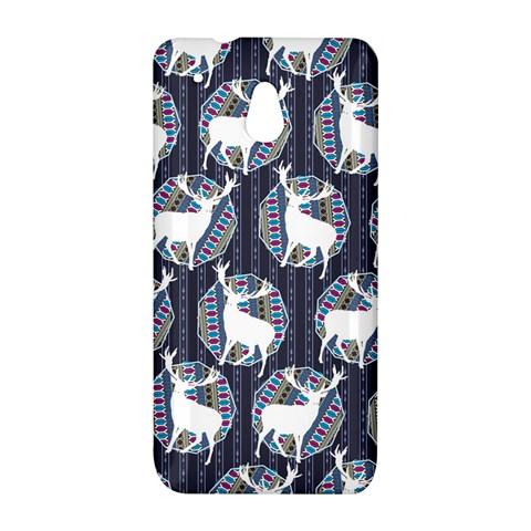 Geometric Deer Retro Pattern HTC One Mini (601e) M4 Hardshell Case