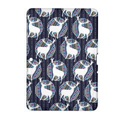 Geometric Deer Retro Pattern Samsung Galaxy Tab 2 (10.1 ) P5100 Hardshell Case