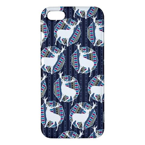 Geometric Deer Retro Pattern iPhone 5S/ SE Premium Hardshell Case