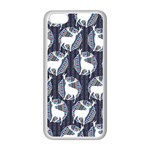 Geometric Deer Retro Pattern Apple iPhone 5C Seamless Case (White) Front