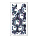 Geometric Deer Retro Pattern Samsung Galaxy Note 3 N9005 Case (White) Front