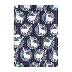 Geometric Deer Retro Pattern Samsung Galaxy Note 10 1 (p600) Hardshell Case