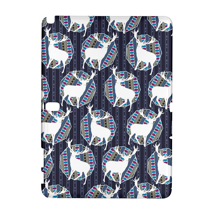 Geometric Deer Retro Pattern Samsung Galaxy Note 10.1 (P600) Hardshell Case