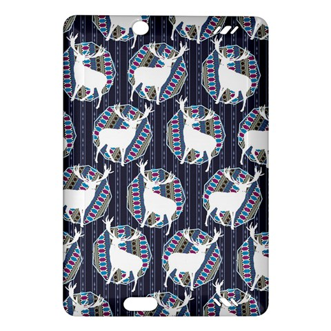 Geometric Deer Retro Pattern Amazon Kindle Fire HD (2013) Hardshell Case