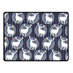 Geometric Deer Retro Pattern Double Sided Fleece Blanket (Small)  50 x40 Blanket Back