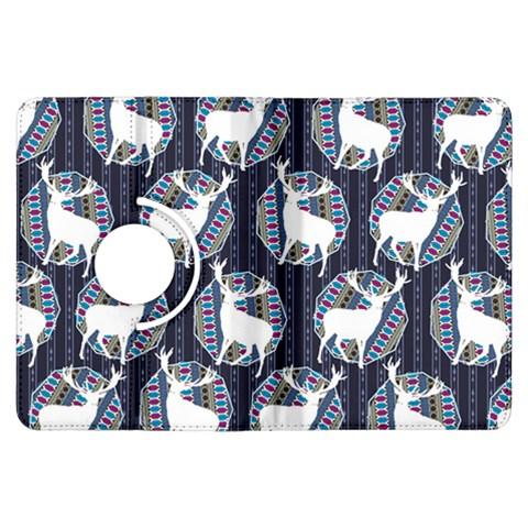 Geometric Deer Retro Pattern Kindle Fire HDX Flip 360 Case