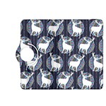 Geometric Deer Retro Pattern Kindle Fire HDX 8.9  Flip 360 Case Front