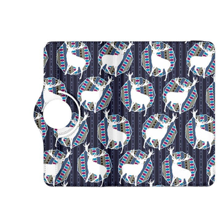 Geometric Deer Retro Pattern Kindle Fire HDX 8.9  Flip 360 Case