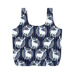 Geometric Deer Retro Pattern Full Print Recycle Bags (M)  Front