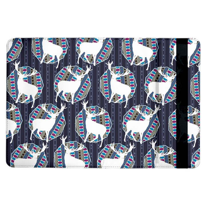 Geometric Deer Retro Pattern iPad Air Flip