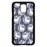 Geometric Deer Retro Pattern Samsung Galaxy S5 Case (Black) Front