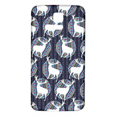 Geometric Deer Retro Pattern Samsung Galaxy S5 Back Case (White)