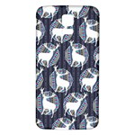 Geometric Deer Retro Pattern Samsung Galaxy S5 Back Case (White) Front