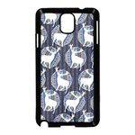Geometric Deer Retro Pattern Samsung Galaxy Note 3 Neo Hardshell Case (Black) Front