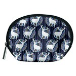 Geometric Deer Retro Pattern Accessory Pouches (Medium)  Front
