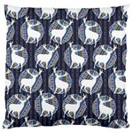 Geometric Deer Retro Pattern Large Flano Cushion Case (Two Sides) Back