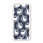 Geometric Deer Retro Pattern Apple iPhone 6/6S White Enamel Case Front