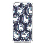 Geometric Deer Retro Pattern Apple iPhone 6 Plus/6S Plus Enamel White Case Front