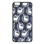 Geometric Deer Retro Pattern Apple iPhone 6 Plus/6S Plus Black Enamel Case Front