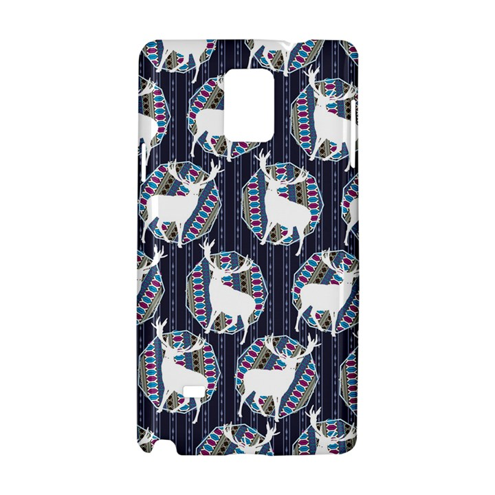 Geometric Deer Retro Pattern Samsung Galaxy Note 4 Hardshell Case