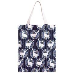 Geometric Deer Retro Pattern Classic Light Tote Bag