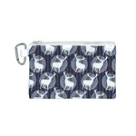 Geometric Deer Retro Pattern Canvas Cosmetic Bag (S) Front