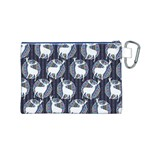 Geometric Deer Retro Pattern Canvas Cosmetic Bag (M) Back