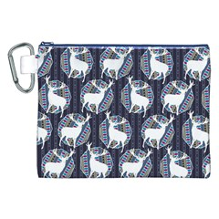 Geometric Deer Retro Pattern Canvas Cosmetic Bag (XXL)