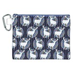 Geometric Deer Retro Pattern Canvas Cosmetic Bag (XXL) Front