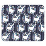 Geometric Deer Retro Pattern Double Sided Flano Blanket (Small)  50 x40 Blanket Back