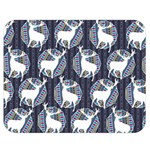 Geometric Deer Retro Pattern Double Sided Flano Blanket (Medium)  60 x50 Blanket Front