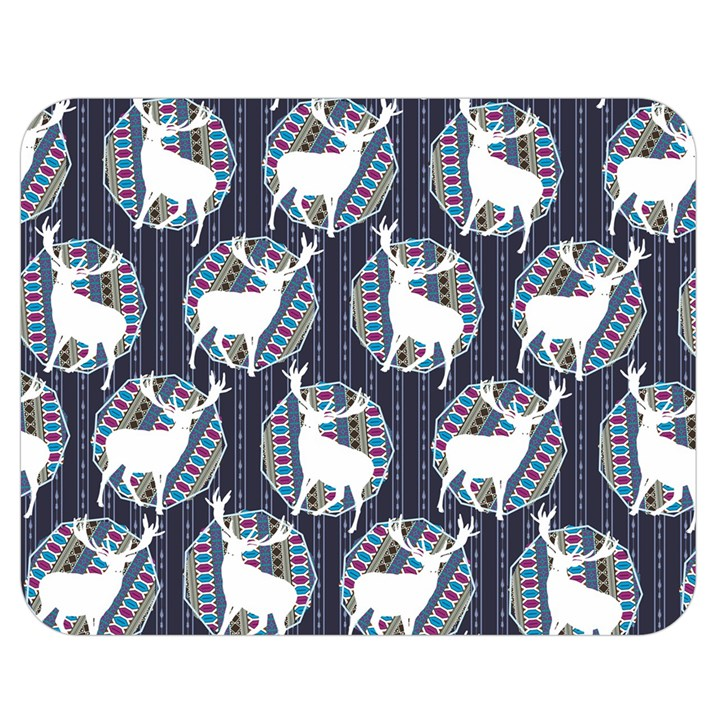 Geometric Deer Retro Pattern Double Sided Flano Blanket (Medium)