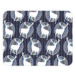 Geometric Deer Retro Pattern Double Sided Flano Blanket (Large)  80 x60 Blanket Front