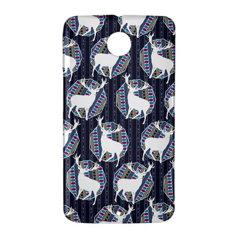 Geometric Deer Retro Pattern Nexus 6 Case (White)
