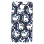 Geometric Deer Retro Pattern Galaxy Note 4 Back Case Front