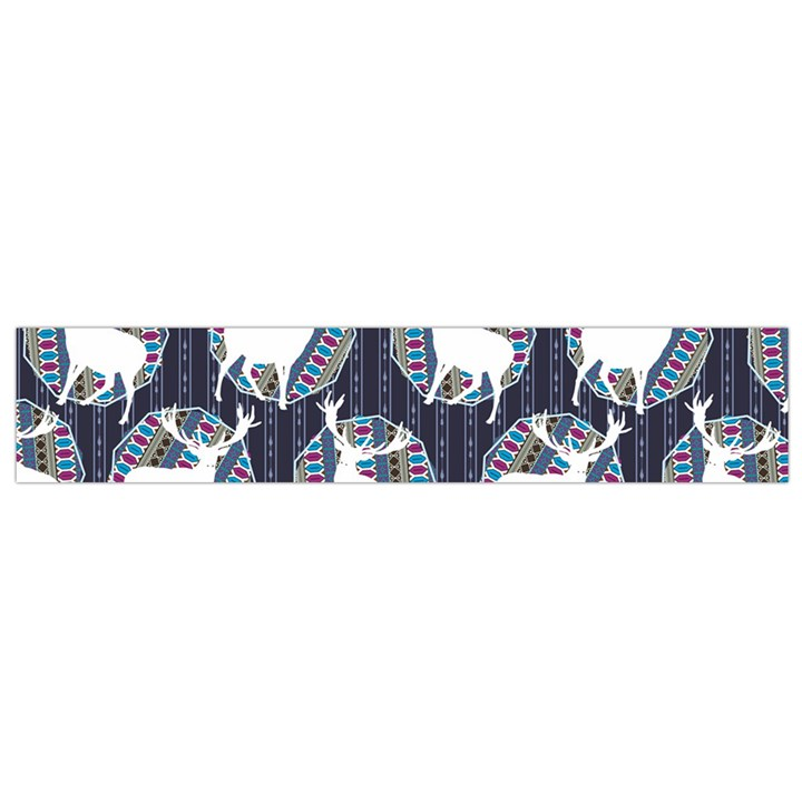 Geometric Deer Retro Pattern Flano Scarf (Small)