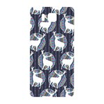 Geometric Deer Retro Pattern Samsung Galaxy Alpha Hardshell Back Case Front