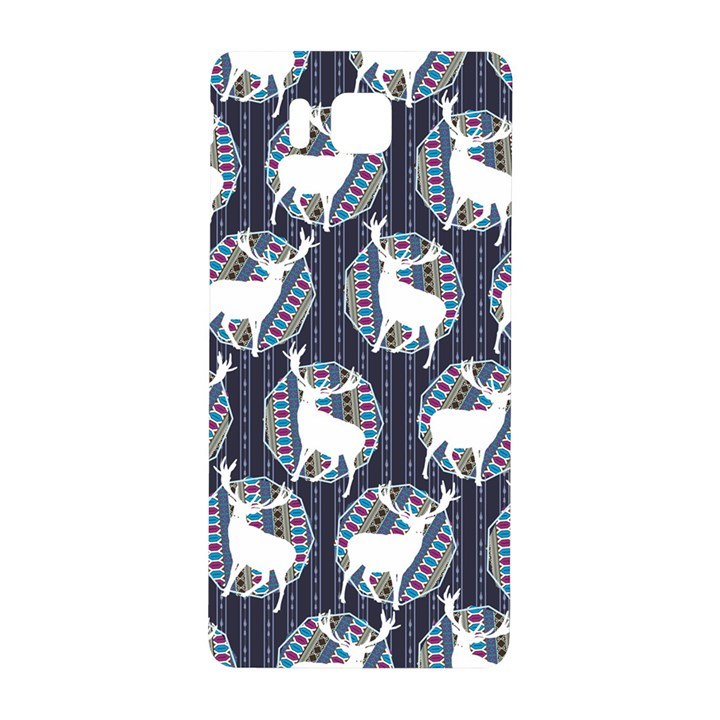 Geometric Deer Retro Pattern Samsung Galaxy Alpha Hardshell Back Case