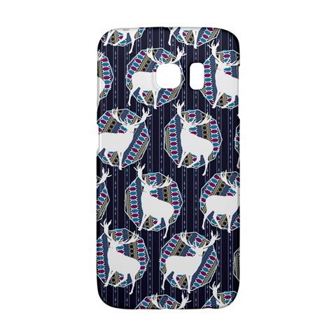 Geometric Deer Retro Pattern Galaxy S6 Edge