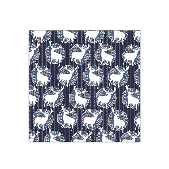 Geometric Deer Retro Pattern Satin Bandana Scarf